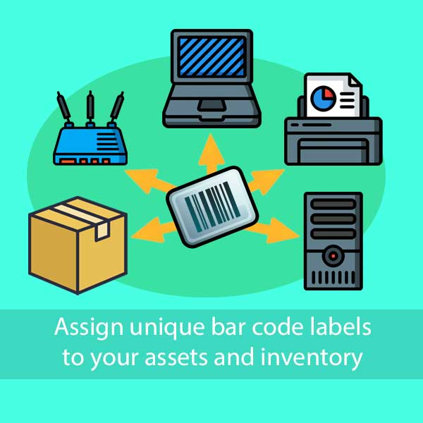 Assign unique barcode in tracmor -cloud based asset inventory management system