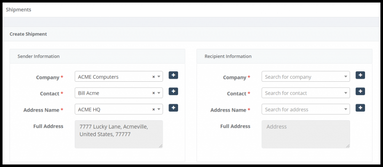 Shipping assets and inventory with Tracmor asset management software